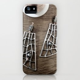 Copper Hematite  earrings iPhone Case