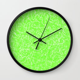 Chaotic white tangled ropes and green pastel lines. Wall Clock
