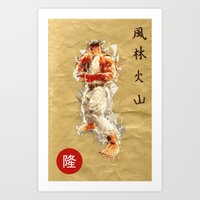 street fighter Art Prints featuring Street Fighter II - Ryu by Carlo Spaziani