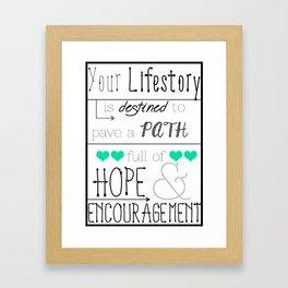 Your Lifestory  Framed Art Print