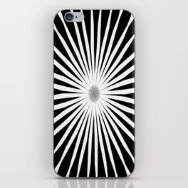 Starburst Black and White Pattern iPhone Skin