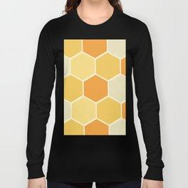 Yellow Honeycomb Long Sleeve T-shirt