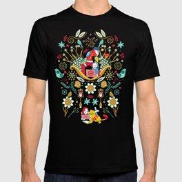 Technological folk art T-shirt