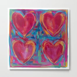 Work of Heart Metal Print