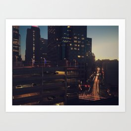 City nights Art Print