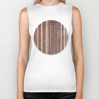 wooden Biker Tanks featuring wooden by Katharina Nachher