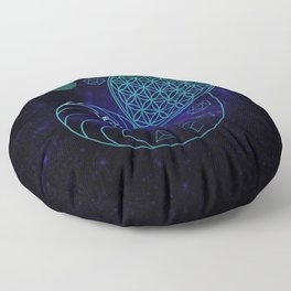 Sacred Geometry Spiral of Creation Floor Pillow