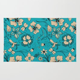 Floral two Rug