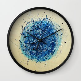 Jackson Pollock Vs Jeff Koons Wall Clock