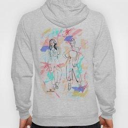 Fashion Illustration 3 - Alternative Background Hoody