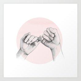 pinky swear // hand study Art Print