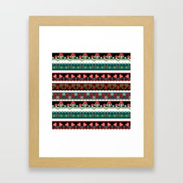 Pattern fun children's . Braid. Framed Art Print