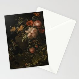 Flowers, Lizards and Insects - Elias van den Broeck (1650-1708) Stationery Cards