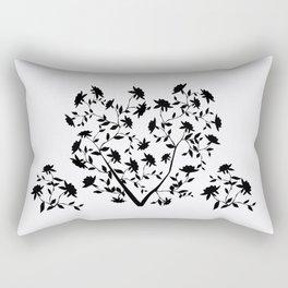 Black Rose bush Rectangular Pillow
