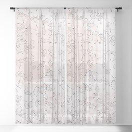 Dandelion field. Abstract pattern Sheer Curtain