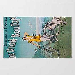 De Dion-Bouton, advertisement vintage poster Rug