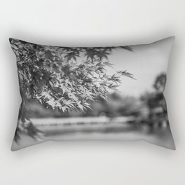 Autumn Scene (Black and White) Rectangular Pillow