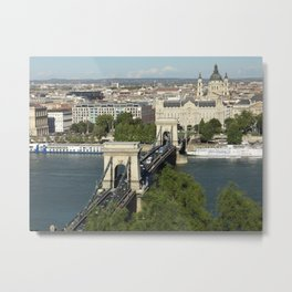 Budapest by Day Metal Print
