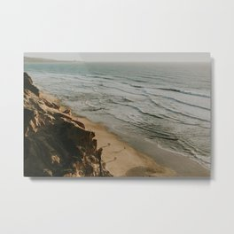 View of Coastline from Torrey Pines State Natural Reserve Metal Print