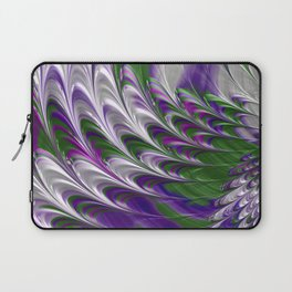 Purple and Green Abstract Laptop Sleeve