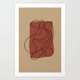Desert Colors Abstract Art Art Print