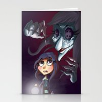 coraline Stationery Cards featuring Coraline by Phil Vazquez