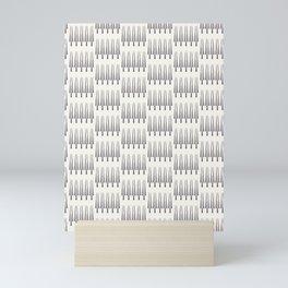 Ethnic row of trees motif scandi style. Vector seamless pattern. Mini Art Print