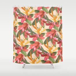 Mixed Paradise Tropicals in Vintage Shower Curtain