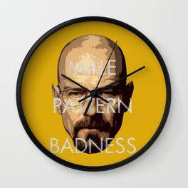 Male Pattern Badness Wall Clock