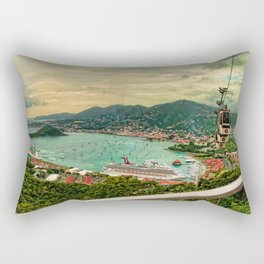A View from Above St. Thomas Rectangular Pillow