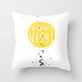 The shortest night Throw Pillow