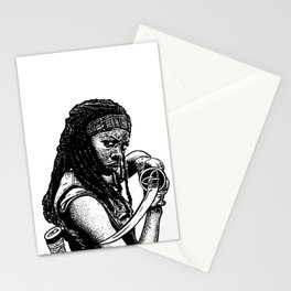 Drawing of Michonne from the Walking Dead Stationery Cards