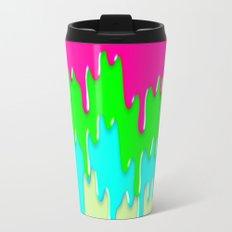 Funny Melting Icecream Neon Pink Green Teal Travel Mug