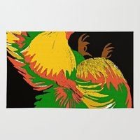 rooster Area & Throw Rugs featuring Rooster by Saundra Myles