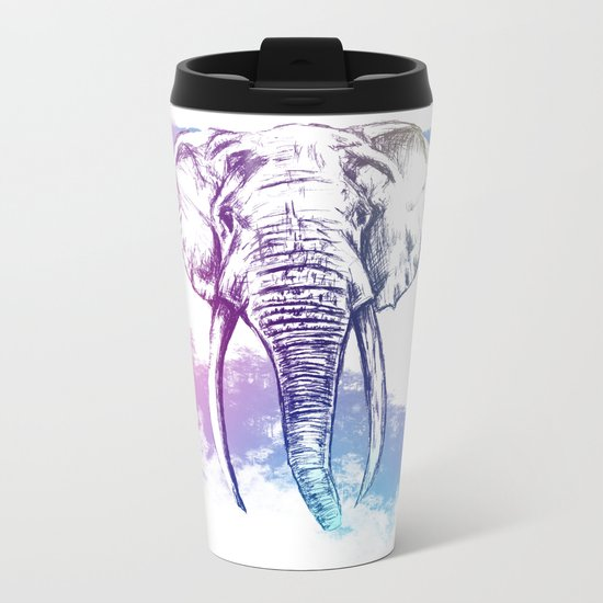 Elephant abstract nature Metal Travel Mug