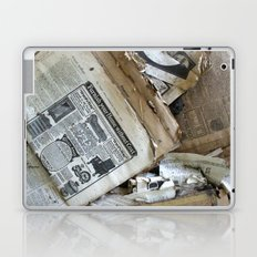 Old Newspaper Left to the Elements...Furnish Your Home in Style Laptop & iPad Skin