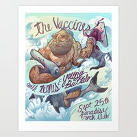 band Art Prints featuring The Vaccines (band poster) by Logan  Faerber