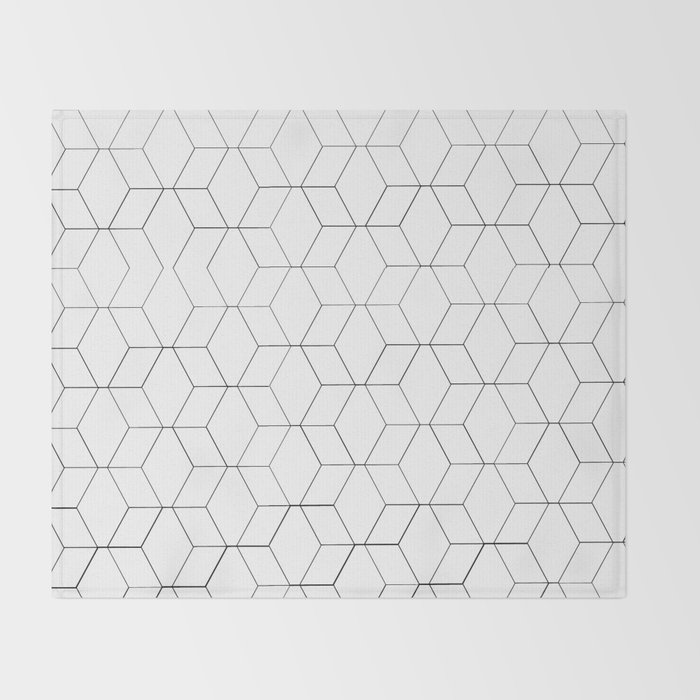 Black and white geometrics Throw Blanket