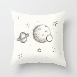 Small Cluster of Planets Throw Pillow
