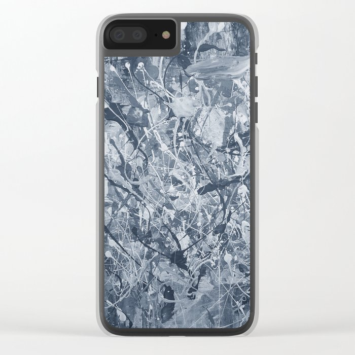 Abstract black painting Clear iPhone Case