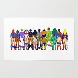 Superhero Butts - Power Couple Rug