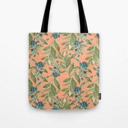 Blue Flowered Gentian Tote Bag