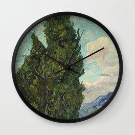 Cypresses Wall Clock