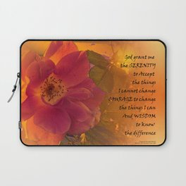 Serenity Prayer Orange Pink Rose Laptop Sleeve