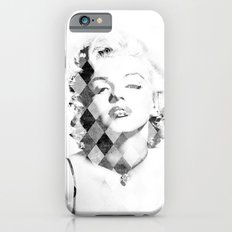 Marilyn Monroe Black and White Checkered iPhone 6s Slim Case