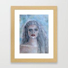 Portrait of a French Mermaid Framed Art Print
