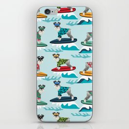 schnauzer surfing dog breed pattern iPhone Skin