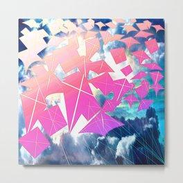 Easter Kites Metal Print