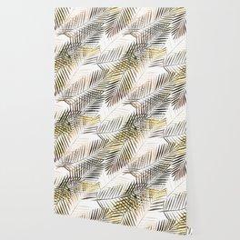 Fern's leaves on white background. Wallpaper