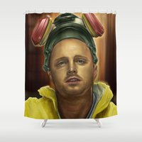 jesse pinkman Shower Curtains featuring Jesse by Jason Cumbers
